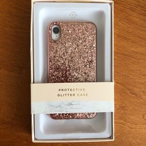 Nanette Lepore iPhone XR Glitter Case Rose Gold